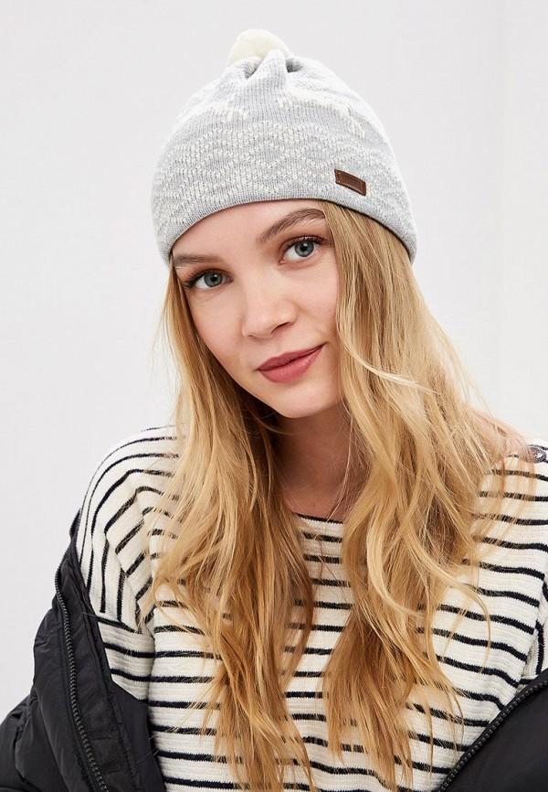 Фото 3 - Женскую шапку Original Siberia серого цвета