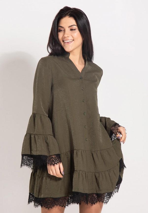 женское повседневные платье bessa, хаки