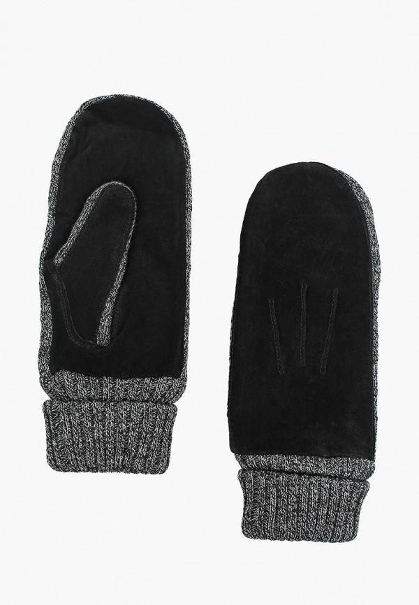 женские варежки modo gru, черные