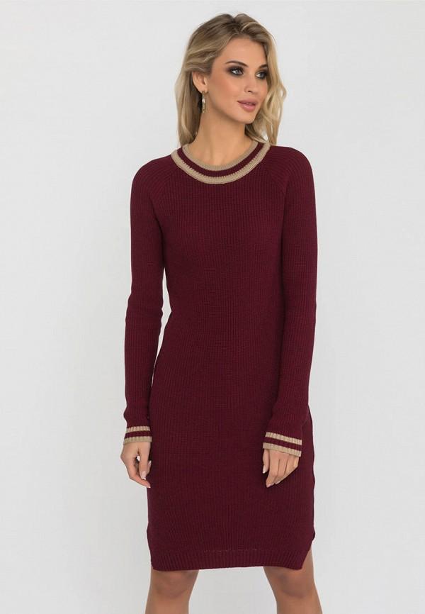 женское платье gloss, бордовое