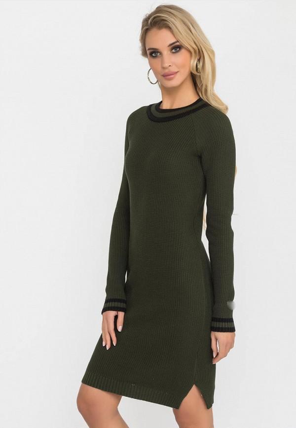 женское платье gloss, хаки