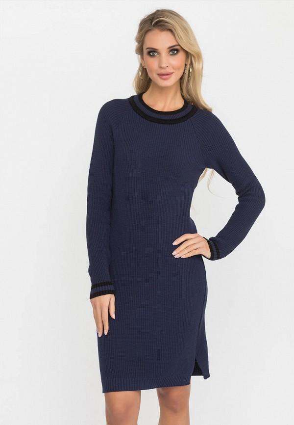 женское платье gloss, синее