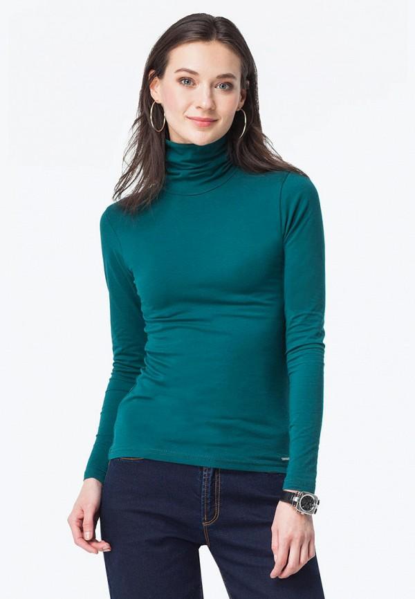 женская водолазка vilatte, зеленая