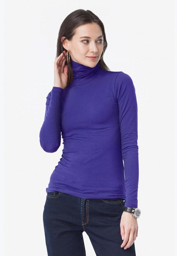 женская водолазка vilatte, фиолетовая