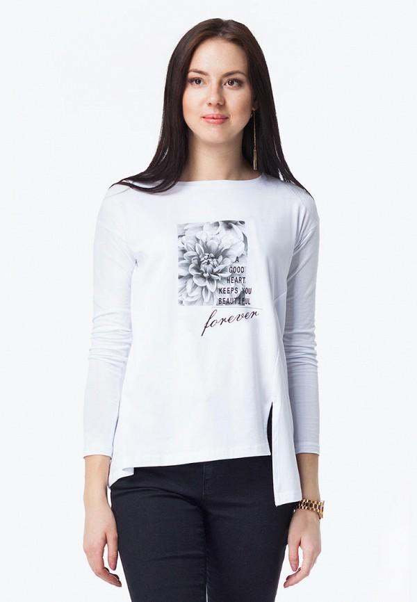 женский лонгслив vilatte, белый
