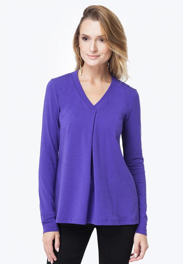 женский лонгслив vilatte, фиолетовый
