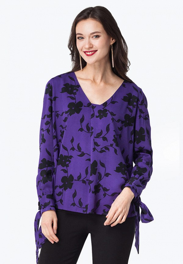 женская блузка vilatte, фиолетовая