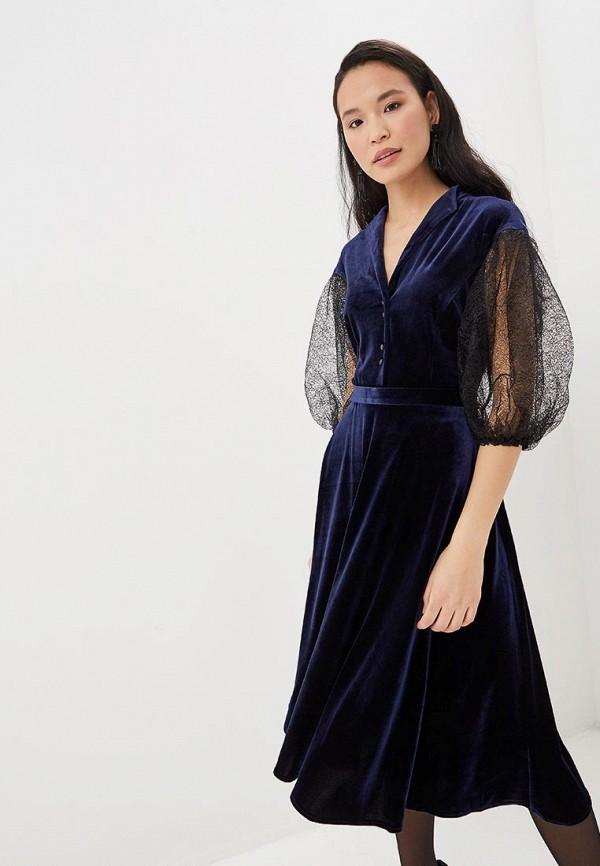 женское вечерние платье tantino, синее