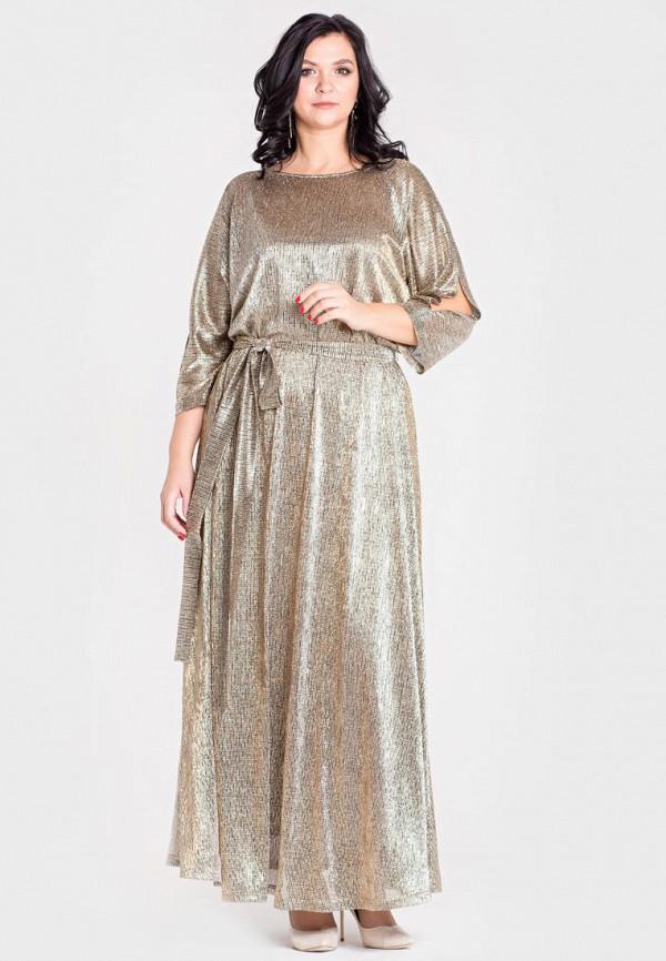 Фото - Женское вечернее платье Filigrana золотого цвета