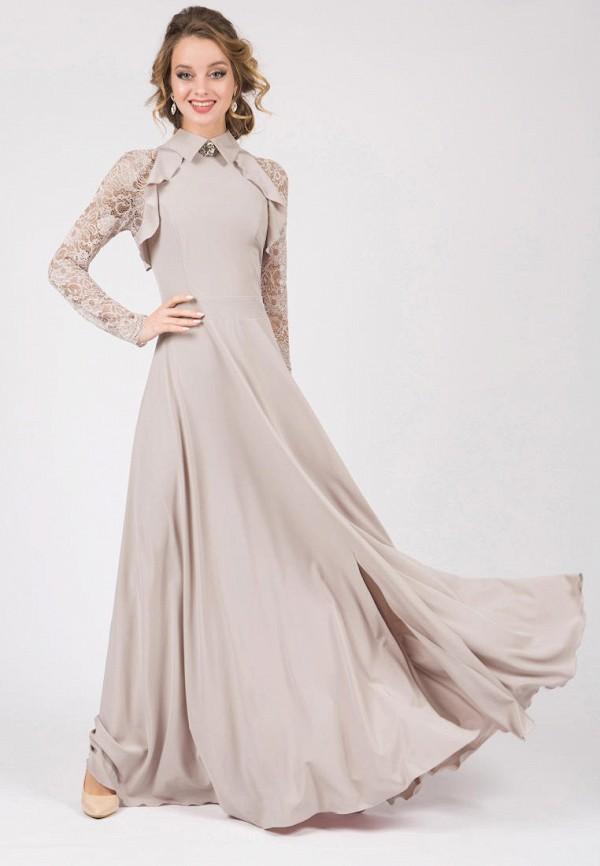 женское вечерние платье marichuell, бежевое
