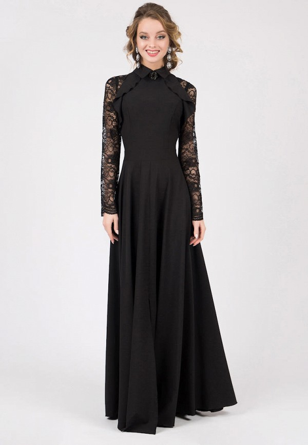 женское вечерние платье marichuell, черное
