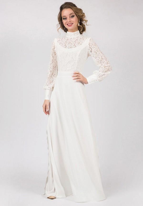 женское вечерние платье marichuell, белое