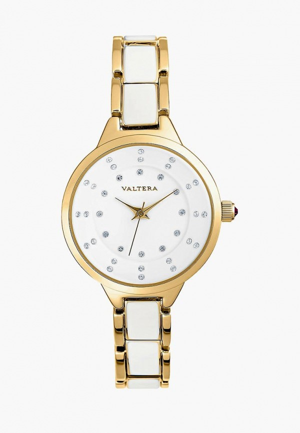 женские часы valtera, золотые