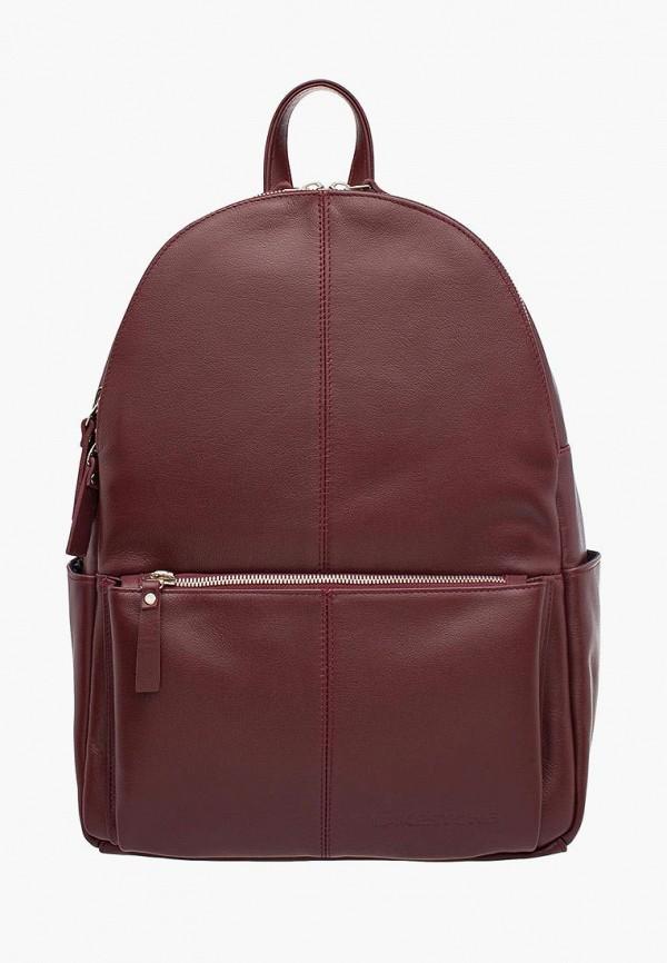 женский рюкзак lakestone, бордовый