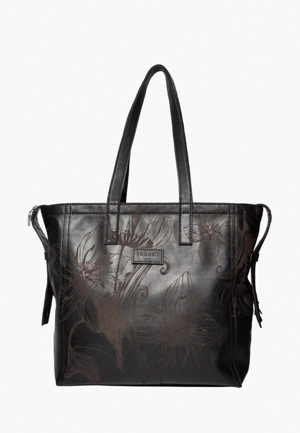 женская сумка franko, коричневая