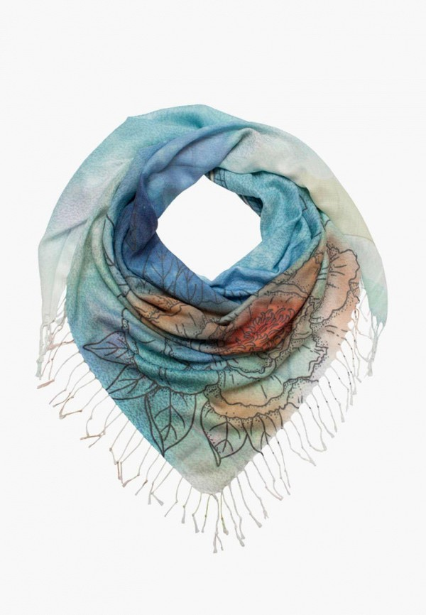 женский платок le motif couture, голубой