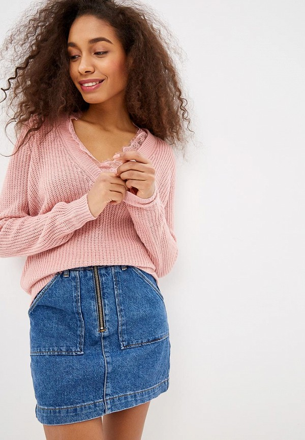 Купить Пуловер Zarina, mp002xw1hwkc, розовый, Весна-лето 2019