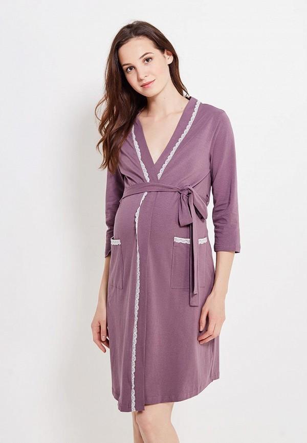 женский халат мамин дом, фиолетовый