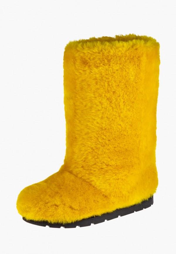 женские унты litvin, желтые