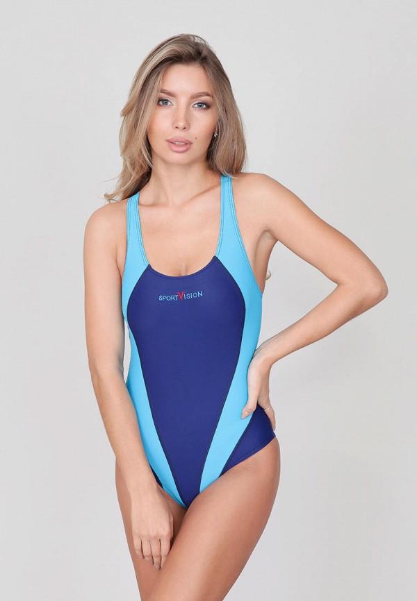 женский купальник sport vision, синий