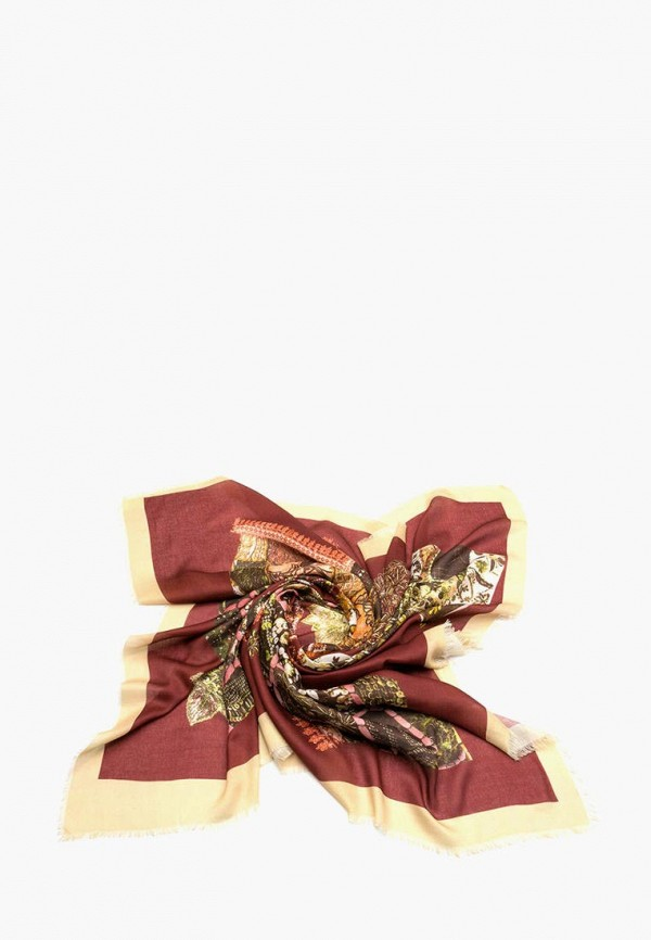 женский платок foxtrot, бордовый