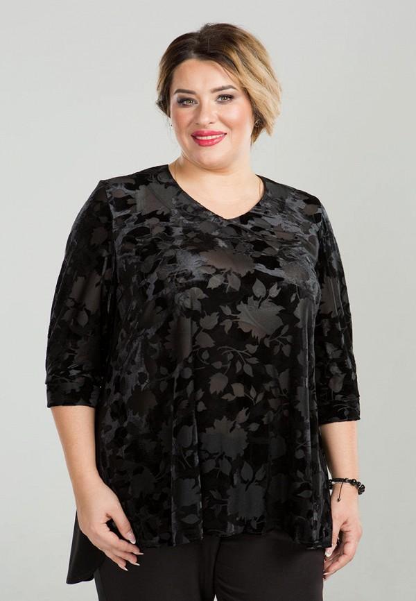 женская блузка luxury plus, черная