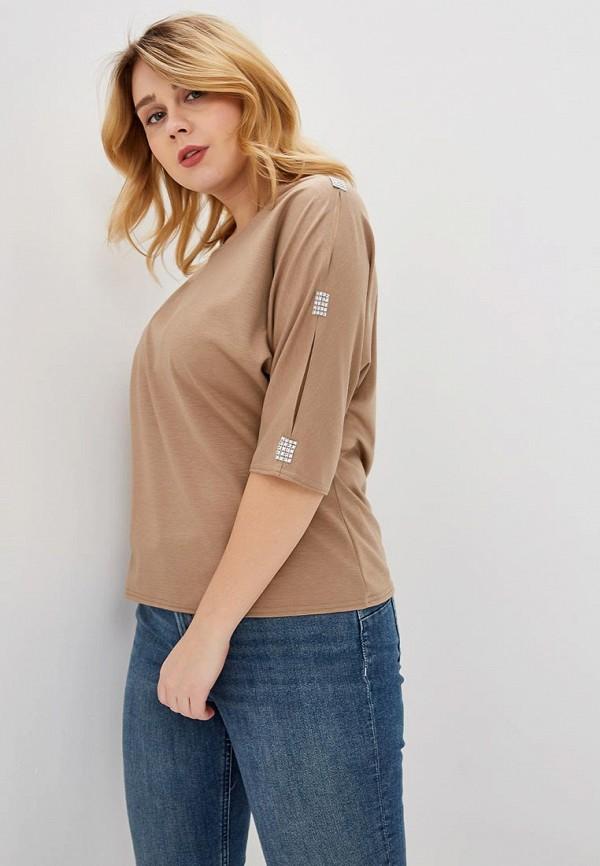 женская футболка prewoman, бежевая