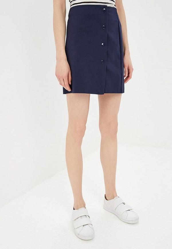 женская прямые юбка befree, синяя