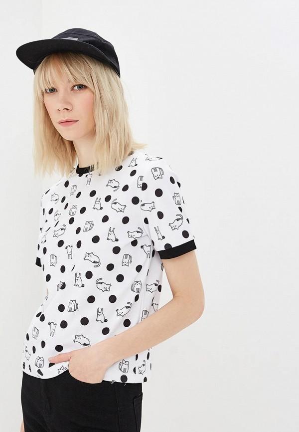 женская футболка befree, белая