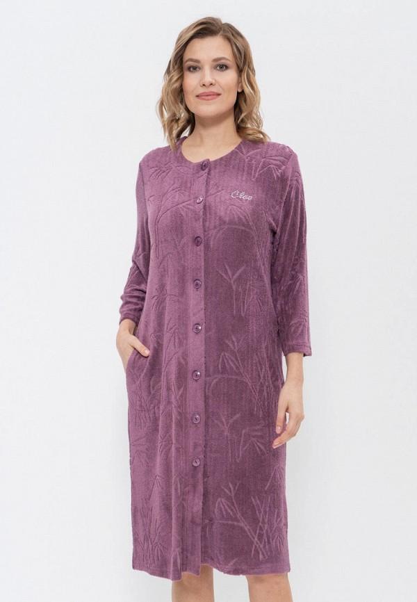женский халат cleo, фиолетовый