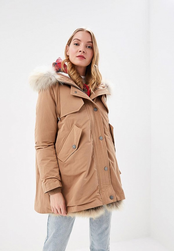 Купить Куртка утепленная Naumi, mp002xw1hywi, бежевый, Осень-зима 2018/2019