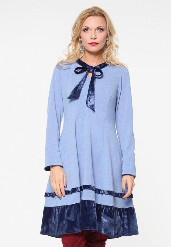 женское повседневные платье kata binska, голубое
