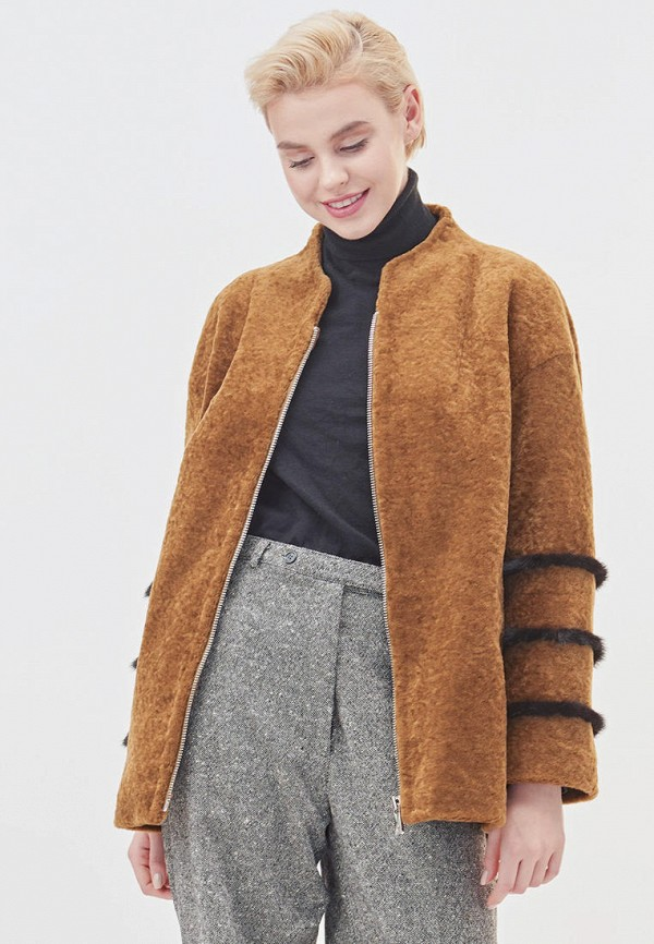 женская куртка silverfox, коричневая