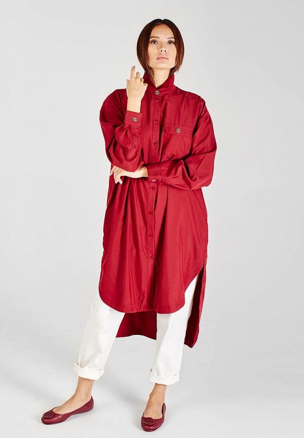 женская туника sana.moda, бордовая