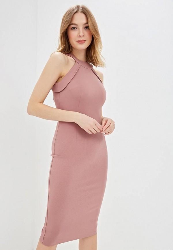 женское платье-футляр olga skazkina, розовое
