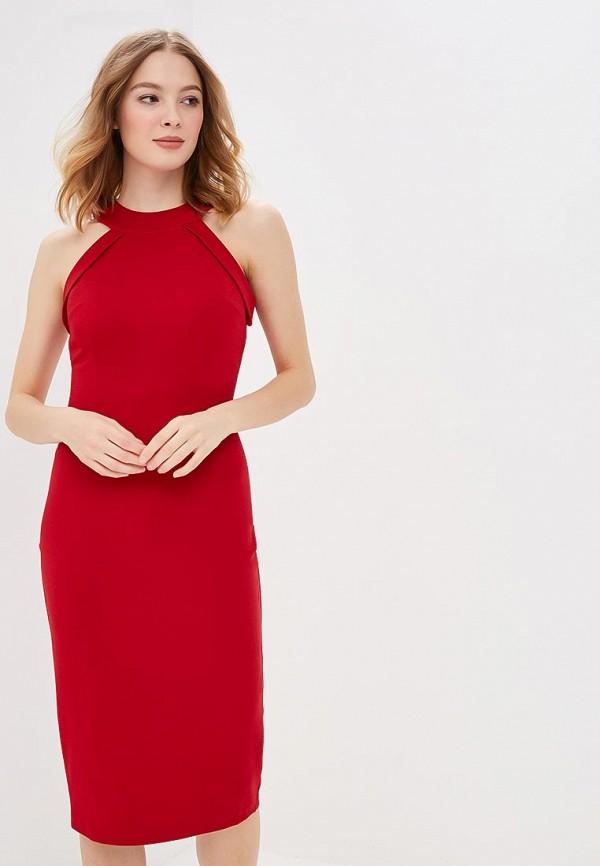 женское платье-футляр olga skazkina, красное