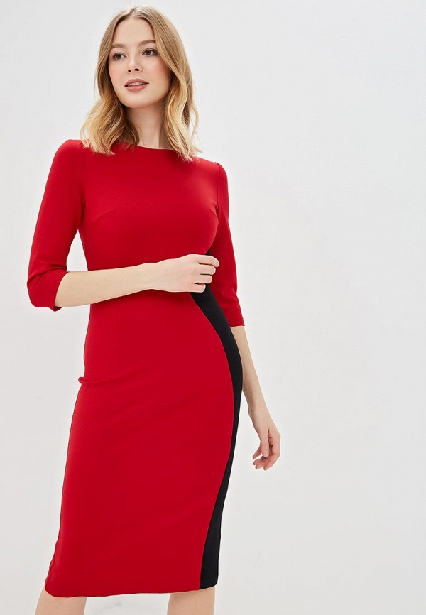 женское повседневные платье olga skazkina, красное
