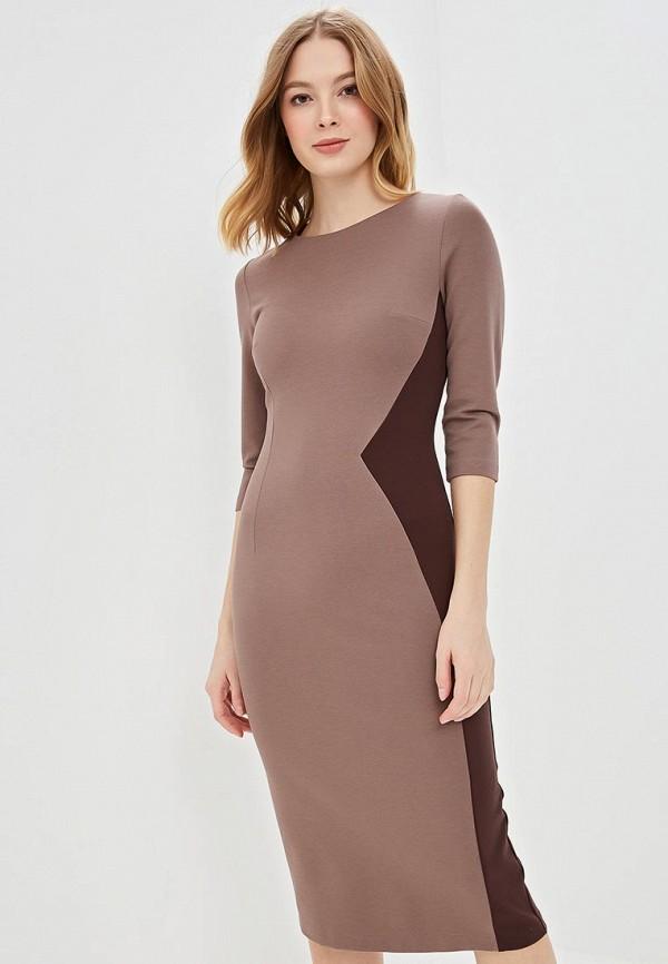 женское повседневные платье olga skazkina, коричневое