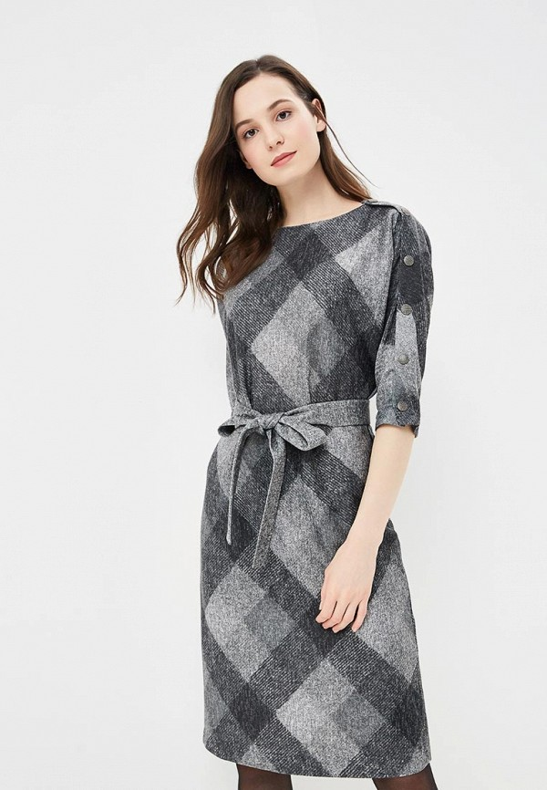 Купить Платье Mari Vera, mp002xw1i1i5, серый, Осень-зима 2018/2019
