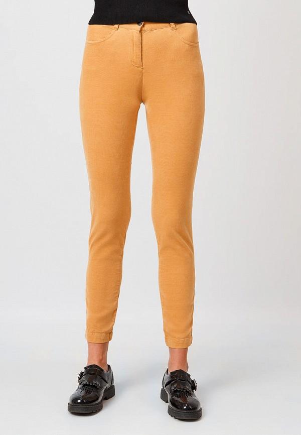 женские повседневные брюки finn flare, оранжевые