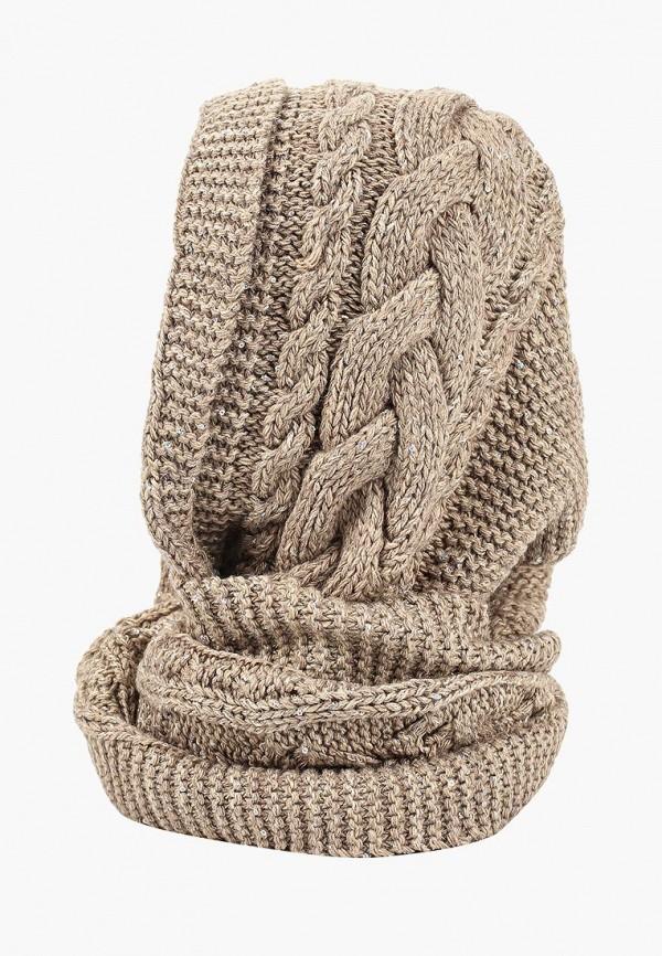 женский снуд forti knitwear, коричневый