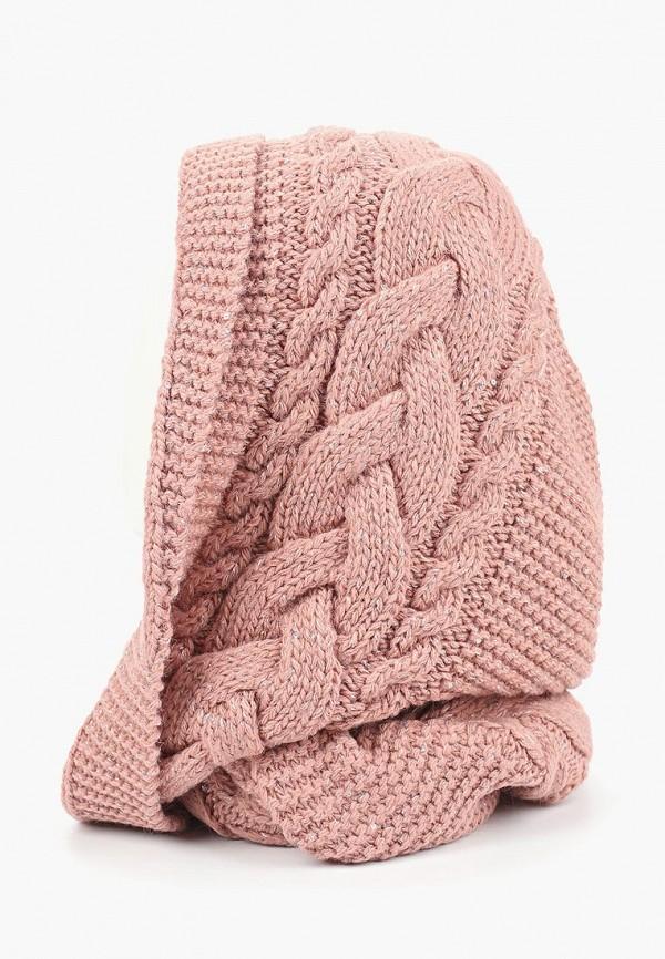 женский снуд forti knitwear, розовый