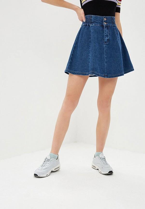 Купить Юбка джинсовая Befree, mp002xw1i1t1, синий, Весна-лето 2019