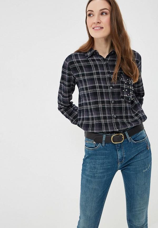женская рубашка с длинным рукавом colin's, черная