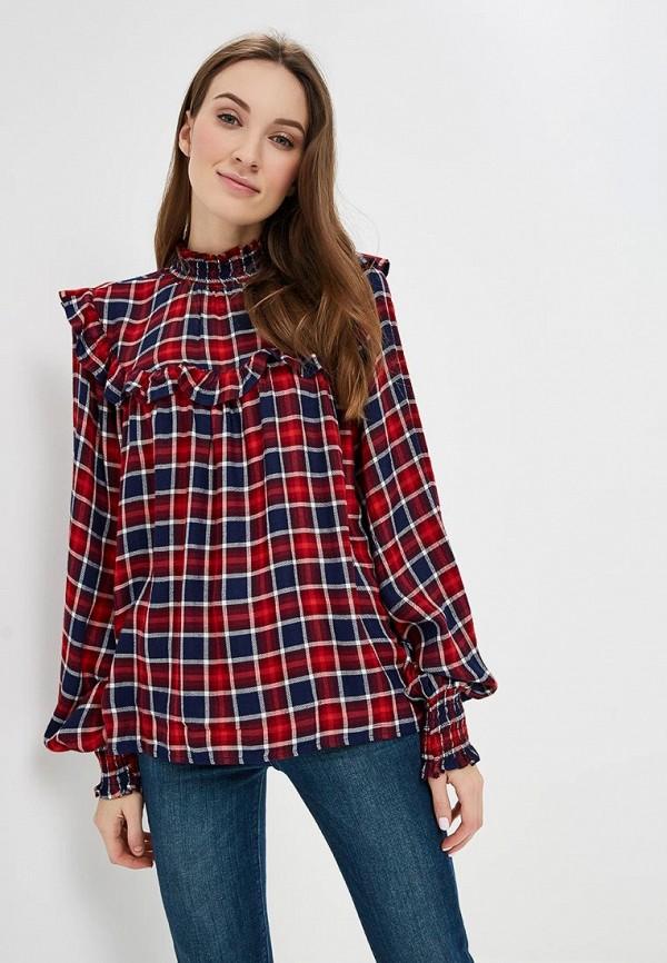 женская блузка colin's, красная