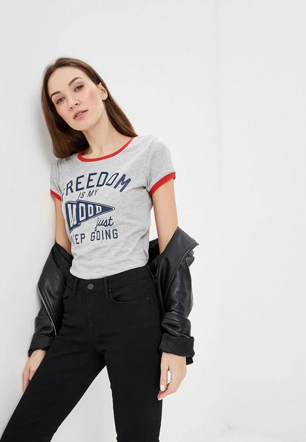 женская футболка colin's, серая