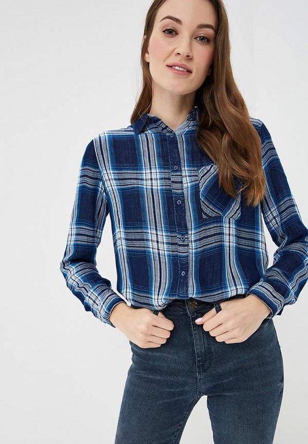 женская рубашка с длинным рукавом colin's, синяя