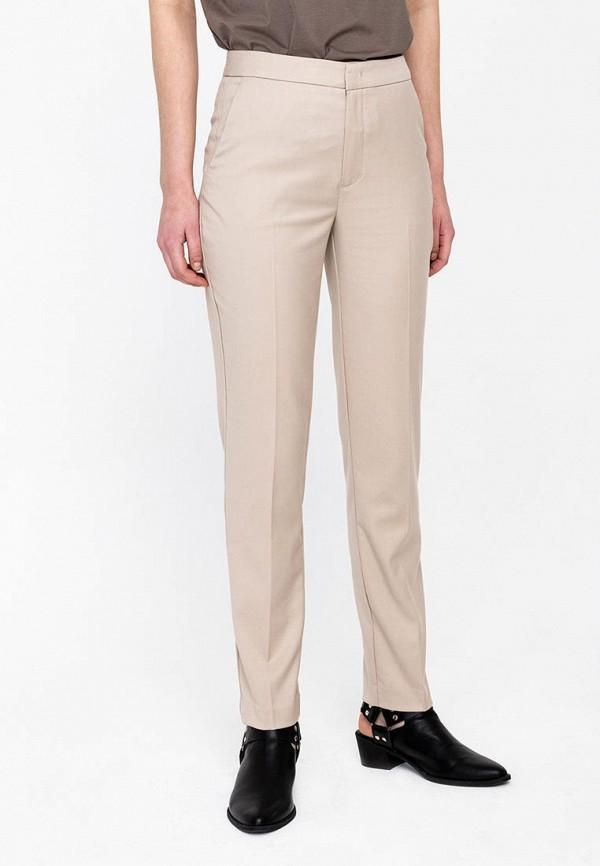 женские классические брюки lime, бежевые
