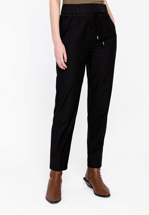 женские повседневные брюки lime, черные