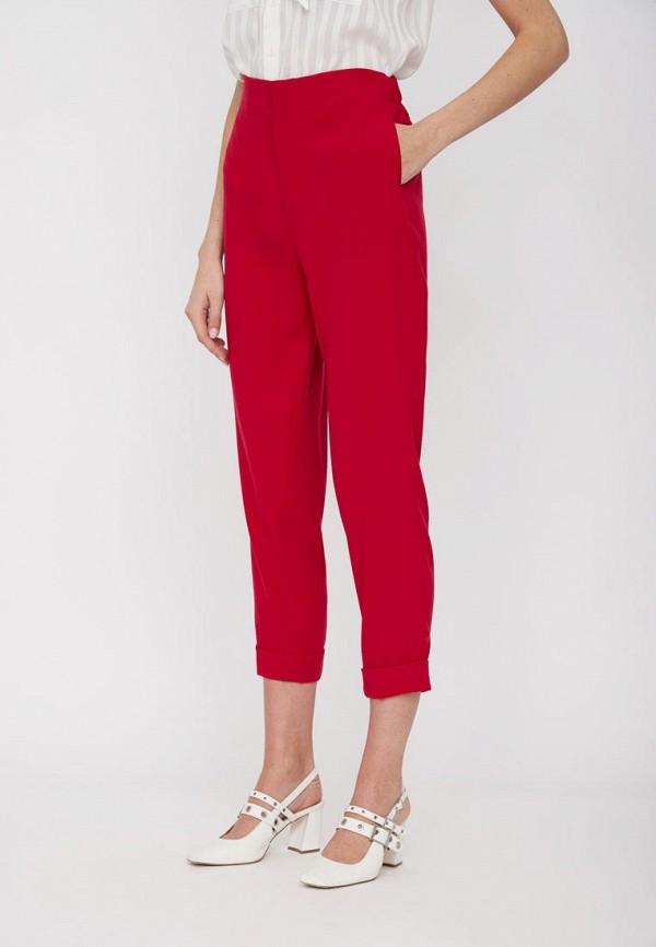 женские классические брюки lime, бордовые